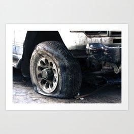 Flat Tire! Art Print