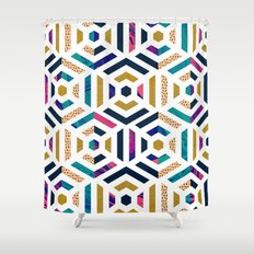 Geometric colorful pattern Shower Curtain