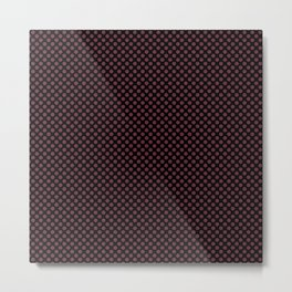 Black and Tawny Port Polka Dots Metal Print