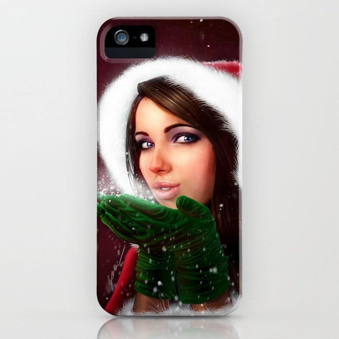Lady Christmas iPhone Case