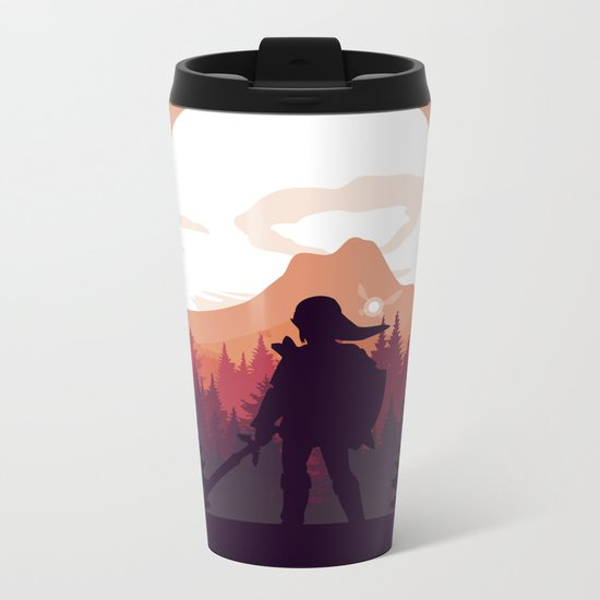 The Legend of Zelda - Orange Version Metal Travel Mug