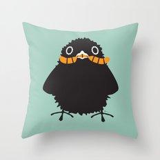 Baby Raven, Worm Throw Pillow