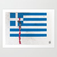 The Grexit scenario Art Print