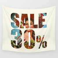 sale Wall Tapestries featuring Sale by Gerko