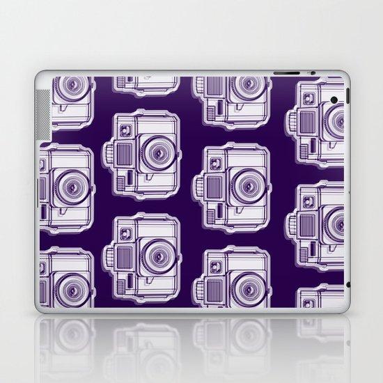 I Still Shoot Film Holga Logo - Reversed Deep Purple Laptop & iPad Skin