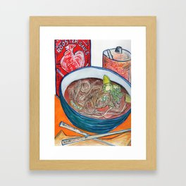 Ode To Pho Framed Art Print