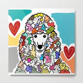 Poodle Love Metal Print
