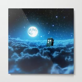 Tardis In Space Metal Print