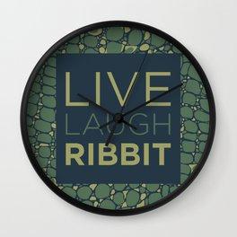Live Laugh Ribbit Wall Clock
