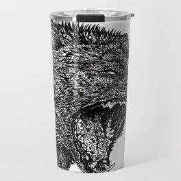 Black Wolf Travel Mug