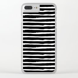 Hand Drawn Stripes Clear iPhone Case