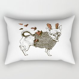 Autumn Chihuahua dog Rectangular Pillow