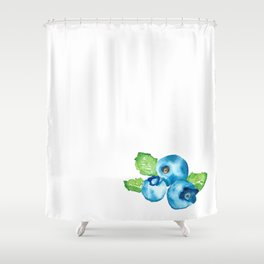 Watercolour Blueberry Shower Curtain