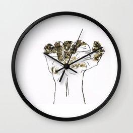 Golden hand Wall Clock
