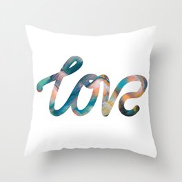 "The Love Series #10 - ""Love"" (typography) Throw Pillow"