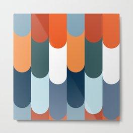 Colorful fish scales decoration Metal Print