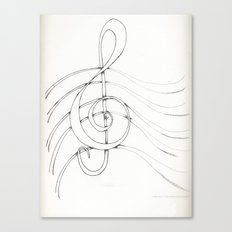 Clef Point Canvas Print