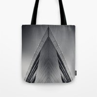 triangle Tote Bags featuring triAngle by Dirk Wuestenhagen Imagery