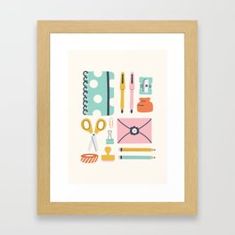 Stationery Love Framed Art Print