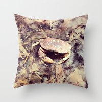 crab Throw Pillows featuring Crab by Ken Seligson