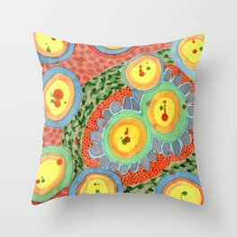 Splashes In Bubbles Throw Pillow