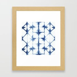 Shibori Diamonds Framed Art Print