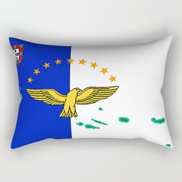 Azores Flag with Map of the Azores Islands Rectangular Pillow