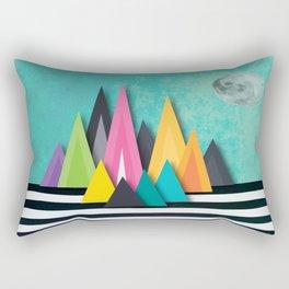 Prison Stripe Mountains Rectangular Pillow