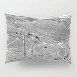 chairlift repair kaunertal alps tyrol austria europe black white Pillow Sham
