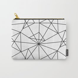Contemporary black white abstract geometrical Carry-All Pouch