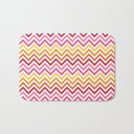 Rainbow Chevron #1 Bath Mat