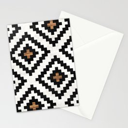 Urban Tribal Pattern No.16 - Aztec - Concrete and Wood Stationery Cards