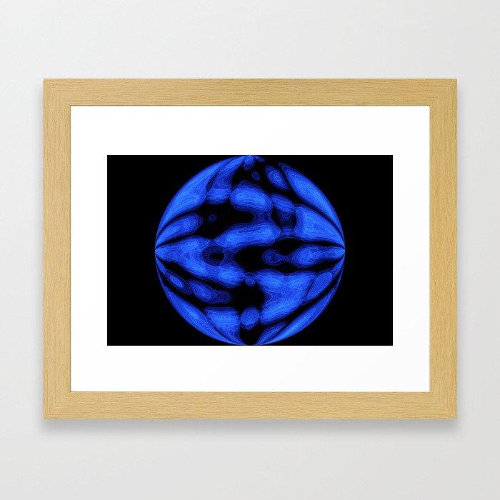 Blue Light Style Framed Art Print