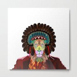 Old Lion Metal Print