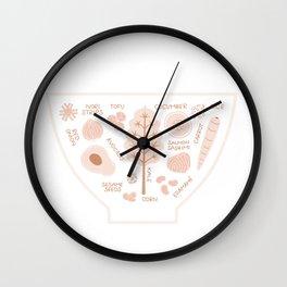 Japanese Poke Bowl Wall Clock
