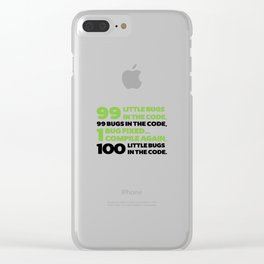Little bugs in the code Clear iPhone Case