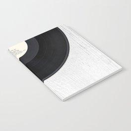 Black vintage vinyl record Notebook