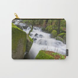 Lovely green forest and wild river Carry-All Pouch