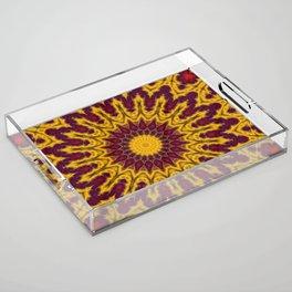 Mandala Fractal in Indian Summer 02 Acrylic Tray