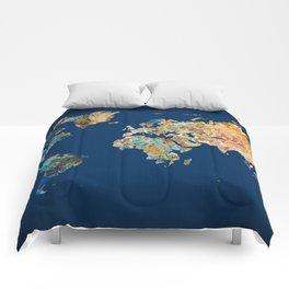 World Map 11 Comforters