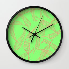 Thin Chillies pink and lime Wall Clock