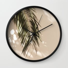 tropical palm leaves vi Wall Clock