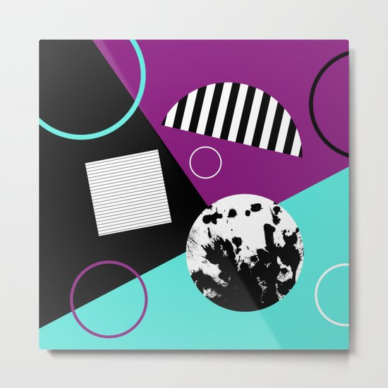 Bits And Bobs 2 - Abstract, geometric design Metal Print