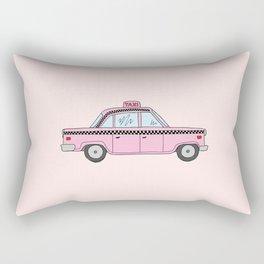 Pink Taxis Rectangular Pillow