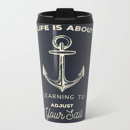 Learn to Adjust your Sail Metal Travel Mug