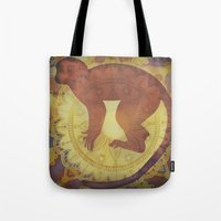 journey Tote Bags featuring Journey by SpaceFrogDesigns