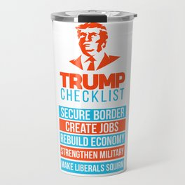 Trump Republican MAGA checklist First Gift Travel Mug