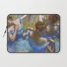 """Edgar Degas """"Dancers in blue"""" Laptop Sleeve"""