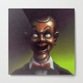 Night of the Living Dummy Metal Print