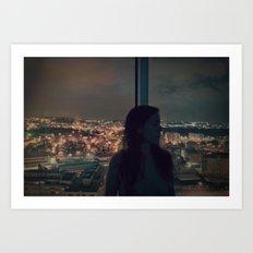 good night Oporto Art Print